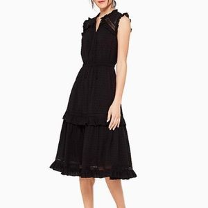 Kate spade swiss dot sleeveless midi dress ♠️